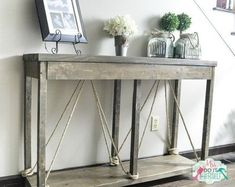 build this entry table for less than 40, home decor, painted furniture, rustic furniture, shabby chic, woodworking projects