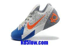 KD Trey 5 Team Orange Armor Slate Light Armory Blue Kevin Durant Basktball Shoes