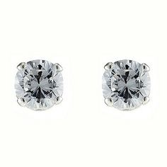 Silver Cubic Zirconia Stud Earrings - Product number 4414594