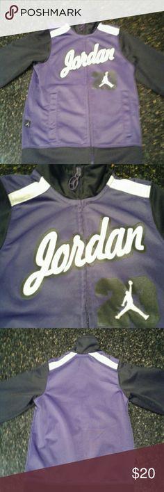 Jordan Kids Jacket Purple Jordan jacket, gently used, very good shape and a very nice color (size S 4-5 yr) Jordan Jackets & Coats