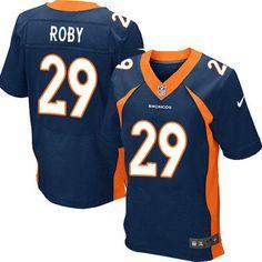 Nike Elite Bradley Roby Navy Blue Men's Jersey - Denver Broncos #29 NFL Alternate
