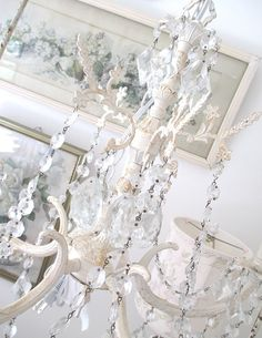 Vintage Chandelier  Shabby Chic  French by PurpleFlowerFairy