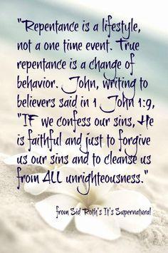 Repentance.... 1 John 1:9 Bible Scriptures, Bible Quotes, Me Quotes, Repentance Quotes, Forgiveness Scriptures, Christian Life, Christian Quotes, Christian Living, Infp