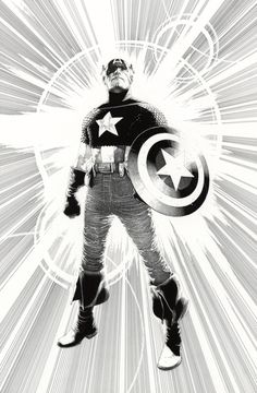 More of Travis Charest's Marvel Work. Those Captain America PinUps are amazing. Comic Book Artists, Comic Artist, Comic Books Art, Black And White Comics, Black And White Artwork, Captain America, Marvel Comics, Marvel Heroes, Travis Charest