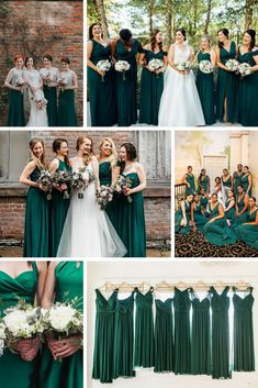 41c7a4d5c6 dark green bridesmaid dresses Christmas Bridesmaid Dresses