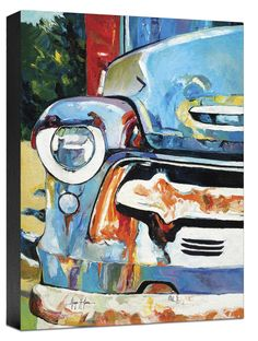 Trends Car Painting Print on Wrapped Canvas