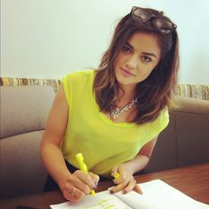 I loved Lucy Hale's hair this length.