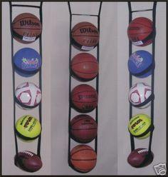 Ballganizer® 5 Garage Classroom Ball Storage Organizer in Sporting Goods, Team Sports, Basketball Garage Storage Solutions, Garage Organization, Organizing, Stair Climber Workout, Ball Storage, Closet Storage, Senior Home Care, No Equipment Workout, Office Home