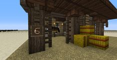 Simple way to keep your horses in your stable! is part of Simple Way To Keep Your Horses In Your Stable Minecraft - close any gates! Minecraft Horse Stables, Minecraft Barn, Modern Minecraft Houses, Minecraft Medieval, Minecraft Houses Blueprints, How To Play Minecraft, Minecraft Buildings, Minecraft Creations, Minecraft Projects