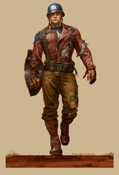 Dieselpunk:  #Dieselpunk fashion ~ Captain America.