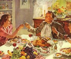 """The Wishbone"" by Haddon Sundblom. #1940s #Thanksgiving #Christmas #art"