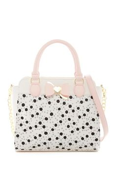 Metal Bow Satchel by Betsey Johnson on @nordstrom_rack