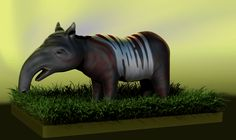 Playing around with the basic Tapir shape. Attempting to make it a bit more alien looking
