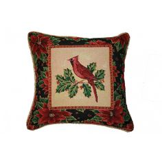 Violet Linen Seasonal Cardinal Design Cushion Cover - Seasonal Cardinal 7101 Cushion cover