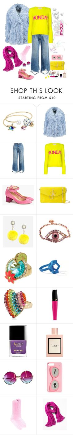 """Yellow"" by deborah-518 ❤ liked on Polyvore featuring Betsey Johnson, DL1961 Premium Denim, Alberta Ferretti, J.Crew, J.W. Anderson, Rock 'N Rose, Kate Spade, Lancôme, Gucci and Janis"