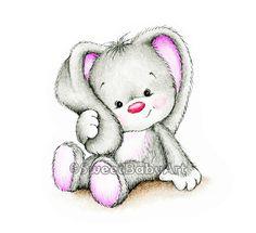 Bunny Nursery Art Print, Nursery Wall  Decor, Children Art Print, Kids Wall Art by SweetBabyArt on Etsy