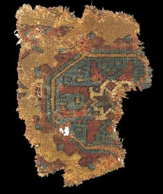 Early Turkish rug fragment, 13-14th centuries. Keir Collection