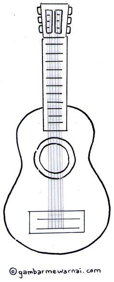 Gambar Mewarnai Gitar