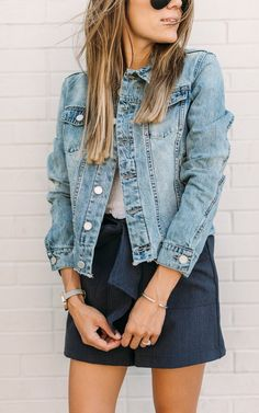Our New Denim Fray-Hem Jacket!!