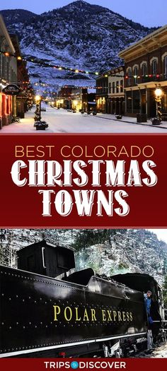 9 Best Christmas Towns to Visit in Colorado Christmas Travel Estes Park Colorado, Denver Colorado, Colorado Springs, Aspen Colorado, Colorado Winter, Colorado Trip, Moving To Colorado, Living In Colorado, Colorado Mountains