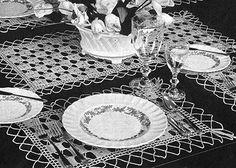 Garden Gate Luncheon Set Pattern #7321