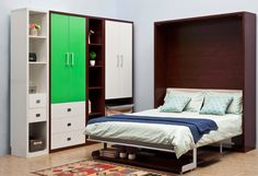 Source Space saving wooden murphy vertical hidden wall with bookcase and sofa double folding latest desiges morden furniture on m.alibaba.com