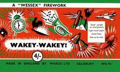 Very striking firework label by Wessex Fireworks Vintage Fireworks, Fireworks Art, Bonfire Night Guy Fawkes, Firework Stands, Lime Tea, Osborne And Little, Colorful Artwork, Firecracker, Band Posters