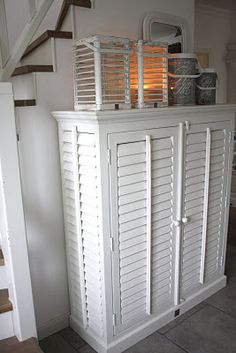 cabinet made from shutters