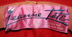 Jeanne Tête, made expressly for Bonwit Teller, New York. Antique Clothing, Clothing Labels, Fashion Branding, Metropolitan Museum, Badges, Authenticity, Sport Outfits, Egg, York