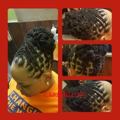 No automatic alt text available. Dreads Styles For Women, Short Hair Styles, Natural Hair Styles, Dreadlock Styles, Locs Styles, Long Dreads, Beautiful Dreadlocks, Natural Braids, Ponytail Styles