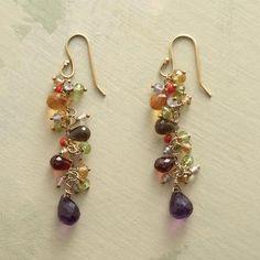Delicate drops and rondelles of garnet, peridot, citrine, amethyst and smoky quartz are a colorful cornucopia.
