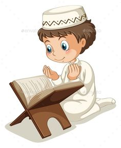 Little Young Muslim Girl Reading Quran Holy Book Stock.Arab clipart reading quran Pencil and in color arab.Islam clipart cartoon Pencil and in color islam clipart. Cartoon Cartoon, Islamic Images, Islamic Art, Fest Des Fastenbrechens, Muslim Pray, Islamic Cartoon, Anime Muslim, Islam For Kids, Muslim Family