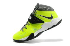 Lebron Soldier VII ID Volt Wolf Grey Lime Green Black Cheap Nike Running  Shoes 4638ebfdfe
