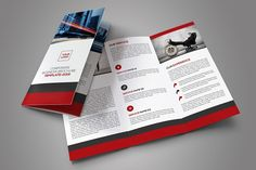 Corporate Trifold Brochure by OrcShape on @creativemarket