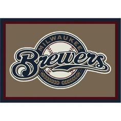 Milliken Mlb Spirit Area Rugs - Contemporary 01009 Mlb Baseball Team Sports Novelty Rug, Multi