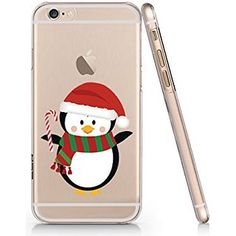 Cute Penguin Merry Christmas Clear Transparent Plastic Phone Case for iphone 6 6s_SUPERTRAMPshop