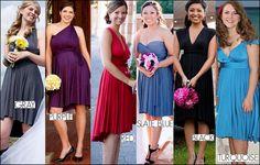 I like this idea for bridesmaid dresses.. convertible