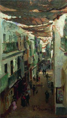 Street of the Snakes in Seville - Ilya Repin