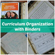 Curriculum organization with binders is an easy way to keep track of papers and ideas. Come see how I organize our curriculum in a binder!