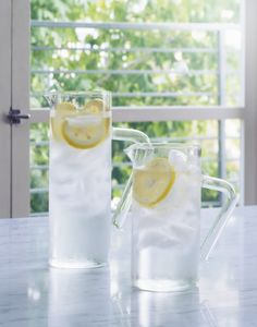 Is this a familiar scene? You're craving a cold glass of water, so you let the sink faucet run for a minute, so the water can cool down. That five minutes could waste up to eight gallons of water per day, according to the EPA. Instead, keep a pitcher or reusable bottle of tap water in the fridge, ready to go.   - HouseBeautiful.com