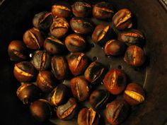 You know it is the Holiday's in Italy when you smell The roasted Castagne!!