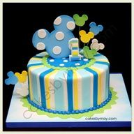 The Disney Cake Blog: Stripe and Spots Mickey Cake
