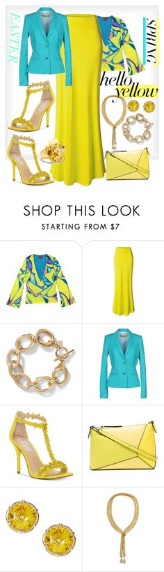 """""""Easter Spring - Hello Yellow"""" by mdfletch ❤ liked on Polyvore featuring Missoni, LE3NO, Versace, INC International Concepts, Loewe, Vince Camuto and Easter"""