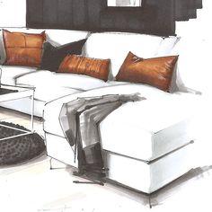 Design sketch furniture 27 Ideas for 2019 Interior Design Renderings, Drawing Interior, Interior Rendering, Interior Sketch, Interior Architecture, Architecture Portfolio, Classical Architecture, Interior Ideas, Modular Furniture
