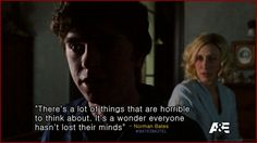 Freddie Highmore as Norman Bates in Bates Motel. quote