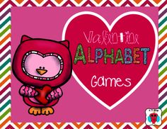 Valentine Alphabet Games from magazine21 from magazine21 on TeachersNotebook.com (15 pages)  - This is a set of three different alphabet games in a Valentine theme.