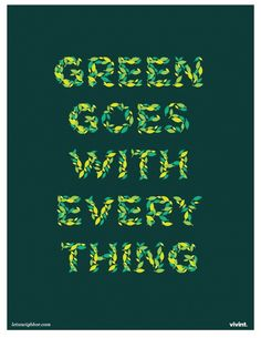 Green Goes with Everything Remember like this