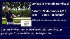 Verlaag je mentale handicap met golfen.  Leer de invloed van onbewuste spierspanning op jouw spel tot een minimum te beperken. Golf, Wave, Polo Neck