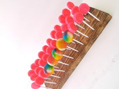 """Cake pop stand - Dessert Stand- Lollipop Stand -Can hold 20 sticks which will give you plenty of flexibly in displaying your treats -1.5"""" distance between each hole A great display space to show off y"""