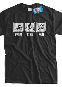 Funny Work Out tshirt Ironman Triathlon Tshirt V1 by IceCreamTees, $14.99